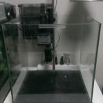 外掛け式フィルターの活性炭マットと流動ろ材